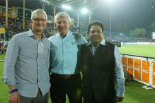 Tim Cook Attends Gujarat Lions Vs Kolkata Knight Riders IPL Match