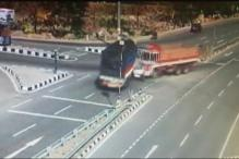 Caught on Camera: Car Crushed Between 2 Trucks In Telangana, 5 Dead