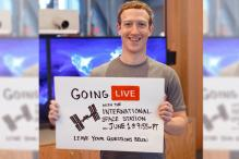 Zuckerberg to Host First Ever Facebook Live With Astronauts in Space