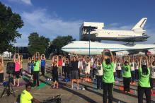 How Houston Marked Yoga Day at NASA Space Center