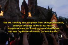 'Harry Potter' Fans Raise Their Wands in Memory of Orlando Shooting Victims