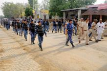 Security Forces Stage Flag Marches Ahead of Jat Quota Stir