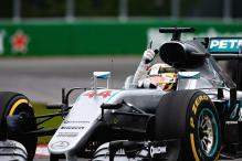 Hamilton Edges Rosberg in Baku Practice, Ricciardo Crashes