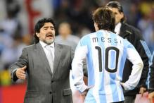 Maradona Urges Argentines to Leave Lionel Messi Alone