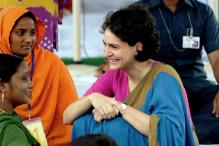 Priyanka Gandhi Attends Congress Meet on Uttar Pradesh Elections