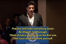 10 Valuable Life Lessons That SRK Gave at a School Graduation Ceremony