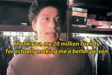 Shah Rukh Khan Thanked His 20 Million Twitter Followers in the Sassiest Way Ever