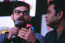 Virat Kohli Records Futsal League Anthem at AR Rahman's Studio