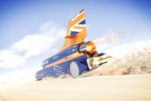 Bloodhound Car Sniffing Out 2017 Land Speed Record Attempt