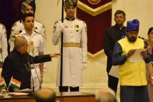Modi Minister Forgets Name While Taking Oath as New MoS