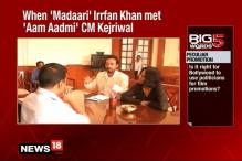 Watch Irrfan Khan Meet Delhi CM Kejriwal To Promote Madari