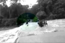 Nainital: Locals Save Bike Rider from Drowning in Flooded River