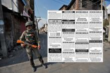 The Classifieds Section in Newspapers Tell a Different Sad Tale About Kashmir