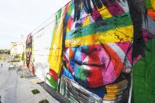 Brazil Graffiti Artist Paints Massive Olympic Mural