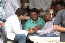 Rahul Meets Dalits Who Were Thrashed for Skinning Dead Cow in Gujarat