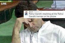 Rahul Gandhi's Parliament Nap Becomes the Source of Humour on Twitter