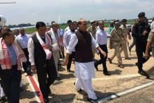 Rajnath Conducts Aerial Survey of Flood Hit Assam,  Announces Compensation