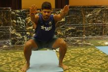 Yoga for Team India Ahead of West Indies Tour