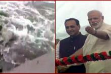 Watch: PM Modi Saves Mediamen From Getting Washed Away