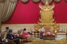 Sushma Swaraj in Myanmar; to Hold Talks With Suu Kyi