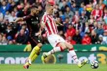 Aguero Strikes Twice as Manchester City Thrash Stoke
