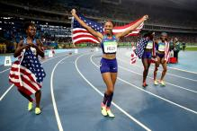 Rio 2016: Felix First Woman To Five Athletics Gold as US Clinch 4x100m Relay