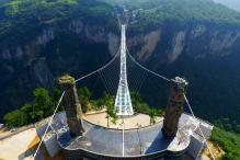 China Opens Highest, Longest Glass Bottom Bridge in World