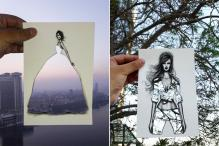 Fashion Artist Uses Clouds and Architecture to Compete His Designs