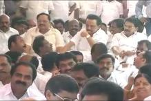 DMK MLAs Protest Outside Tamil Nadu Assembly