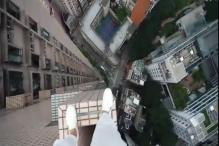 This Person Walking on Building Ledges Will Give You an Anxiety Attack!