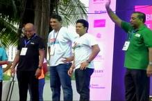 Watch: Sachin Tendulkar Flags Off Mumbai Half Marathon