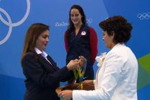 Rio 2016: Nita Ambani Distributes Medals at Swimming Victory Ceremony