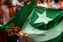 Pakistan Flag Burnt By Protesters in Assam
