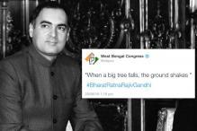 Bengal Congress Tweets, Then Deletes Rajiv Gandhi's Controversial Quote