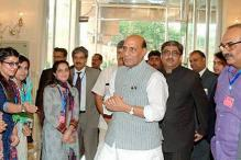 Rajnath, his Pak Counterpart Barely Shake Hands at SAARC Meet