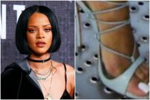 Rihanna Walking On Grate In Her Stilettos Is Giving Internet Anxiety