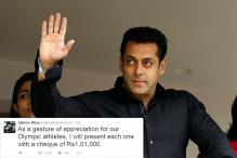 Salman Khan to Present Cheques to Indian Athletes Participating at Rio Olympics