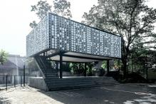 This Beautiful Library In Indonesia Is Made Of 2,000 Cup Of Ice Cream Containers