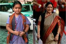 'I Love Your Jacket' Sushma Swaraj Tells Little Girl Dressed Up As The Minister