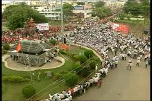 Maratha Community Carries out Silent March at Satara