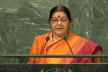 UNGA: Sushma Says Kashmir Integral Part of India; Asks Pakistan To Stop Dreaming