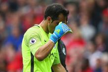 Pep Guardiola Defends Claudio Bravo After Manchester Derby Jitters