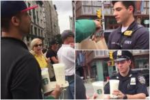 Starbucks Employee Offers Free Refreshments For NYPD Officers At Chelsea Blast Site