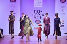 5-year-old Battling Down Syndrome Turns Showstopper For Varija Bajaj at India Runway Week