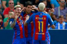 Lionel Messi Double Leads Five-star Barcelona Past Leganes