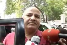Ink Thrown at Delhi Minister Manish Sisodia Outside L-G's Office