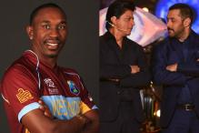 Dwayne Bravo Looks Up to SRK, Salman Khan for Successful Career