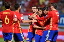 Spain Rout Liechtenstein 8-0 in Group G; Italy Beat Israel