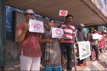 Human Chain Organised To Protest Steel Flyover