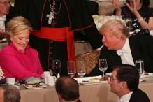 Hillary Clinton, Trump Exchange Acid Jokes at New York Dinner